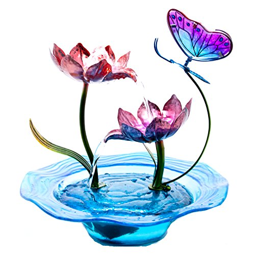 Electric Cascading Tabletop Fountain Butterfly