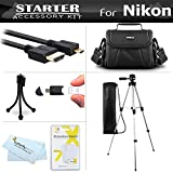Starter Accessories Kit For Nikon COOLPIX B700, P900, P610, P600 Digital Camera Includes Deluxe Carrying Case + 50 Tripod With Case + Micro HDMI Cable + USB Card Reader + LCD Screen Protectors + More