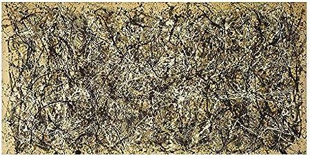 MJKLU Famoso Arte Abstracto Jackson Pollock otoño Graffiti Sucio Tinta Puntos Lienzo Pintura Pared Arte Cartel Impresiones Dormitorio Sala de Estar Oficina Estudio decoración del hogar