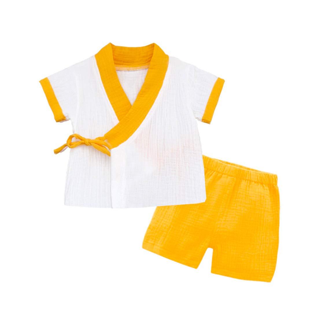 Wickelhemd PAUBOLI Baby Kimono Bademantel f/ür Neugeborene Biobaumwolle
