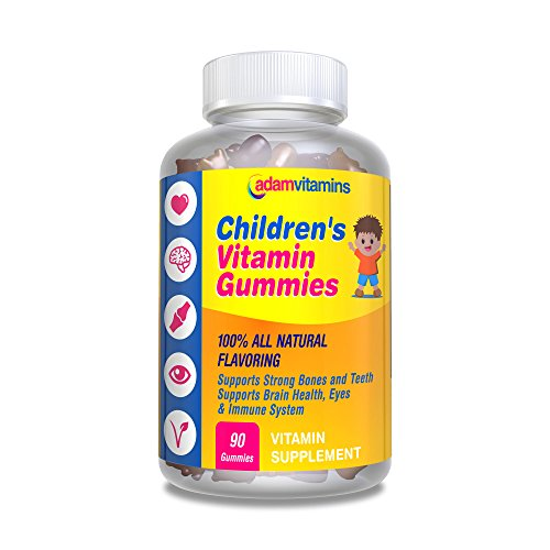 Childrens Vitamin Gummies Halal Kosher Vegan 100% All Natural Flavoring Non-GMO, Soy Free, Dairy Free, Gluten Free Vitamin C B3 B5 B6 B12