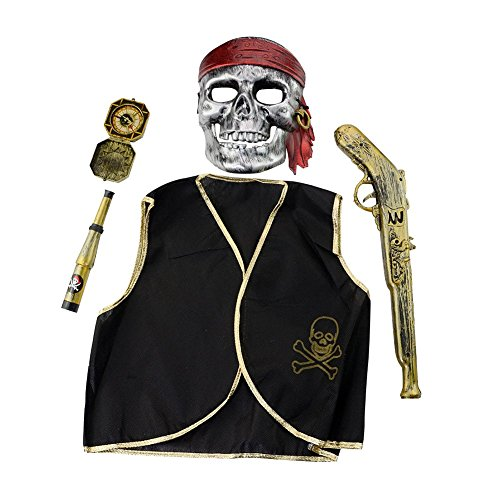 Lisli Halloween Pirate Toy Costume Accessories Set Party Mask Dress