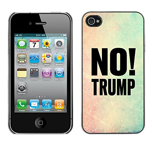 Print Motif Coque de protection Case Cover // Q04100515 Pas de cadre de couleur Trump // Apple iPhone 4 4S 4G