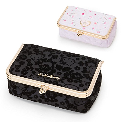 Sanrio Hello Kitty purse makeup pouch black From Japan New