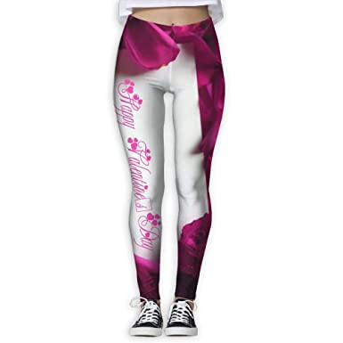 Amazon Com Hpnvhs Women S Power Happy Valentine S Day Yoga Pants