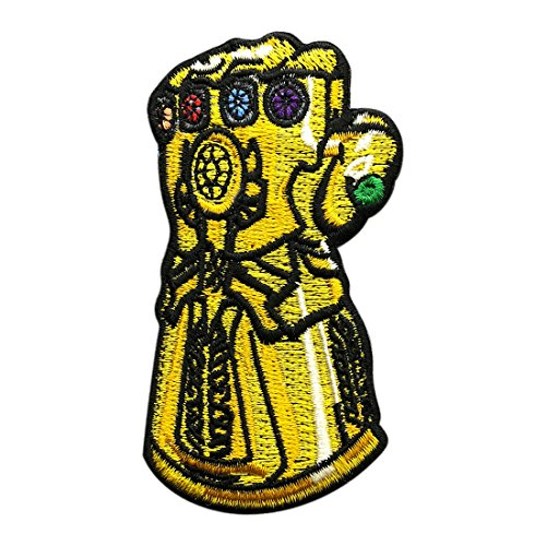 Infinity Gauntlet Avengers Embroidered Iron on Sew on Patch