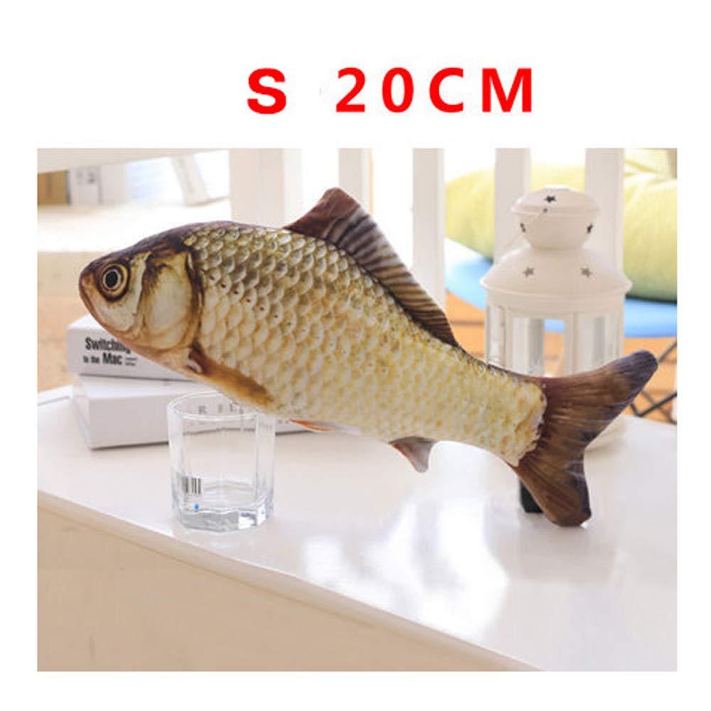 S LFpet Supplies Simulation cat bite Mint Fish Pillow pet cat Supplies (Size   S)