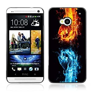 YOYOSHOP [Cool Fire VS Water Fist Illustration] HTC One M7 Case