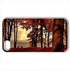 November - Case Cover for iPhone 4 and 4s (Watercolor style, White)
