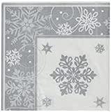 Amscan Party Dinner Plates Childrens Napkins, White