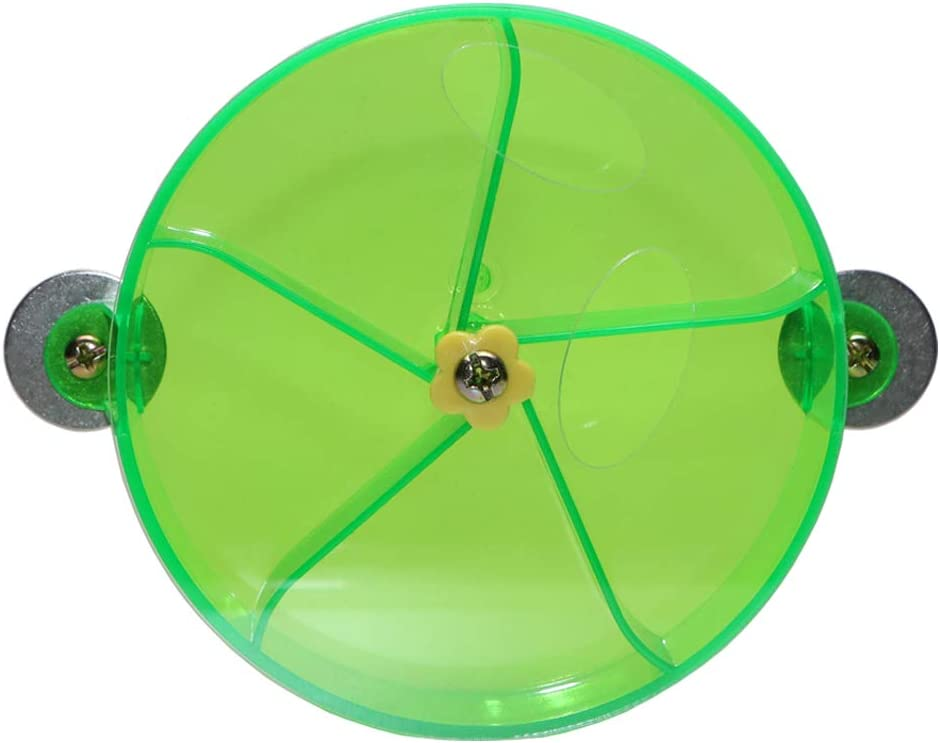 Bird Creative Foraging System Wheel Seed Food Ball Rotate Training Toy for Small and Medium Parrots Parakeet Cockatiel Conure