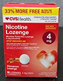CVS Health Nicotine Lozenge, Stop Smoking Aid, 96 Cinnamon Lozenges (4 mg Nicotine Each)