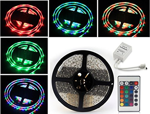 Low Price Waterproof RGB Remote Control Color Changing LED Strip Light,5 Meter