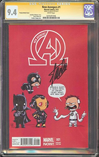 New Avengers #1 CGC 9.4 SIGNATURE SERIES SIGNED STAN LEE Marvel Skottie Young Variant