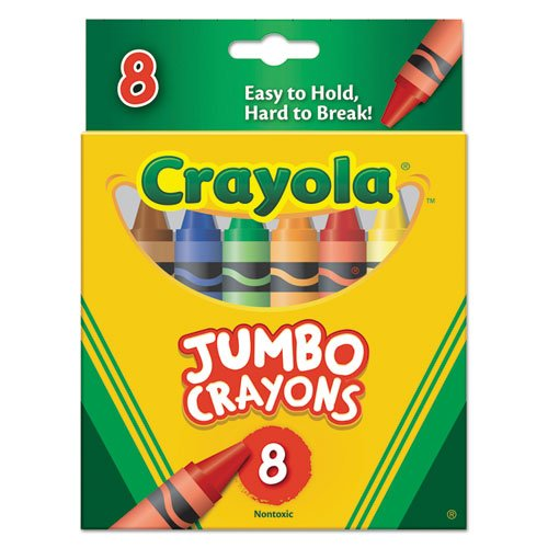Crayola So Big Crayons, Large Size, 5 x 9/16, 8 Assorted ...
