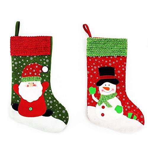 zhihu Set de 6Medias para Papá Noel de Papá Noel de Navidad medias Regalos Cestas de Candy Candy bolsa de regalo y tratar...