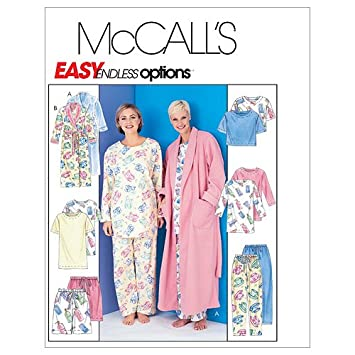 Amazon.com: McCall\'s Patterns M3370 Misses\' Robe With Tie Belt ...
