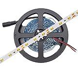 HitLights Warm White LED Light Strip, 3528-16.4 Feet, 300 LEDs, 3000K, 72 Lumens per Foot. 12V DC Tape Light