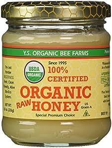Y.S. Eco Bee Farm 100% Certified Organic Raw Honey 8 oz (226 grams) Paste by YS Organic