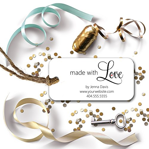 a85b8467e834 Made with Love Custom Personalized Tags - for gifts, favors, crafts,  business, or handmade products 3