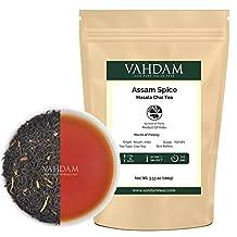 Assam Spice, Masala Chai Tea (50 Cups) - Unique blend of Malty Loose Leaf Assam Tea blended with Garden Fresh Cardamom, Cinnamon, Cloves & Black Pepper - Spiced Black Tea from India, 3.53oz