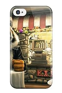 TUhDhbB3684roGId Case Cover, Fashionable Iphone 4/4s Case - Tiger Funny Cartoon S