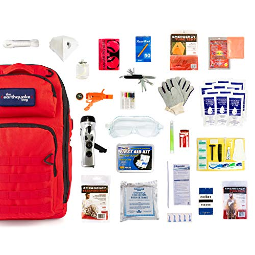 Complete Earthquake Bag - Emergency kit for earthquakes, hurricanes, floods + other disasters (1 person, 3 days)