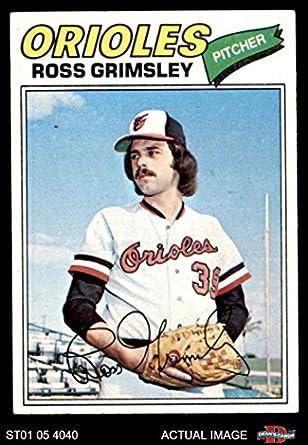 Amazoncom 1977 Topps 572 Ross Grimsley Baltimore Orioles