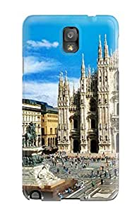 First-class Case Cover For Galaxy Note 3 Dual Protection Cover Milan City