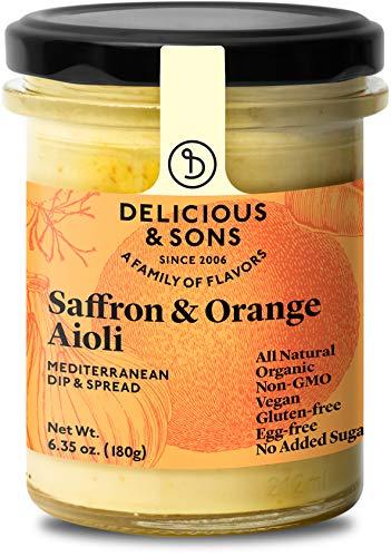 Delicious & Sons Organic Garlic Aioli with Saffron & Orange 6.35 oz....