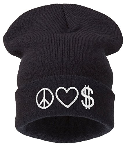 Taille Peace 4sold Bonnet Money Universelle Black Love Noir Homme tx6O6wqZ
