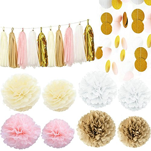 Kubert Paper Hanging Decoration Set, Pack of 35 (Party Supplies)