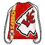 NFL Kansas City Chiefs Big Logo Drawstring Backpack, 18 In. X 13.5 In.