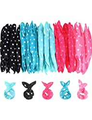 Bememo 40 Pieces Hair Rollers DIY Hair Styling Rollers...