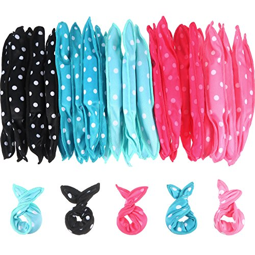 (Bememo 40 Pieces Hair Rollers DIY Hair Styling Rollers Tools Soft Sleep Foam Pillow Hair Curler Rollers Sponge (5 Colors))