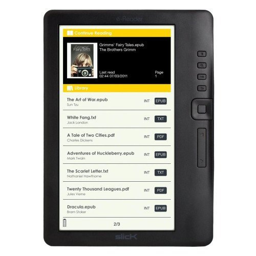Slick ER701 eReader with Binder Case