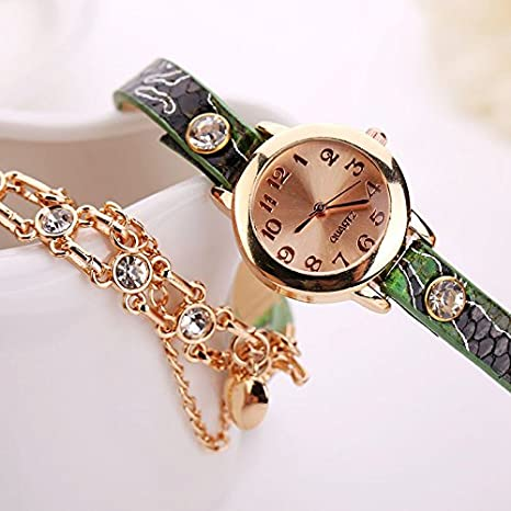 Amazon.com: Women Rivet Chain Watches Sale, Women Vintage Analog Quartz Watch Rhinestone Bracelet Wrist Watch: Cell Phones & Accessories