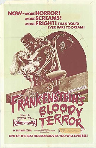 "Frankenstein's Bloody Terror - Authentic Original 27"" x 41"" Folded Movie Poster by MovieposterDotCom"