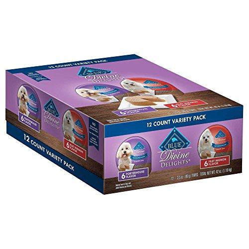 Blue Buffalo Blue Divine Delights Pate Filet Mignon/Porterhouse Variety Pack Dog Food, 3.5 oz., Case of 12