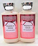 Set of 2 Bath Body Works Wrapped in Sugar Lotions 8 Ounce Each For Sale