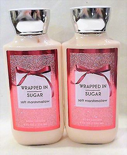 Set Of 2 Bath Body Works Wrapped In Sugar Lotions 8 Ounce Each