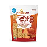 Happy Tot Super Smart Snacks, Organic Toddler Snack, Cinnamon, Sweet Potato + Flaxseed, 4.4 Ounce Bag