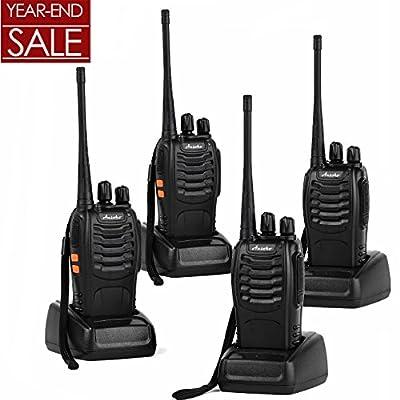 Ansoko Long Range Walkie Talkies FRS/GMRS 2-Way Radios (Black)