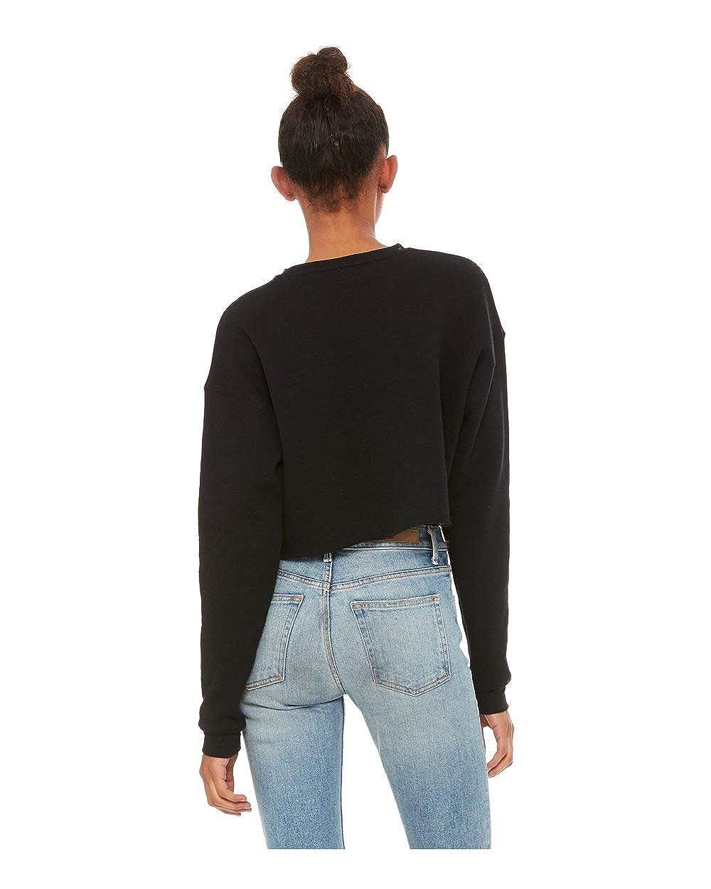 Alpha Sigma Tau Cropped Crew Fleece Sweatshirt
