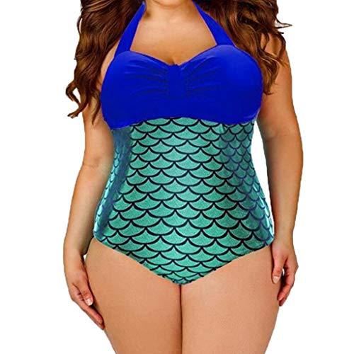 GUTTEAR Women Leopard Bandage One Piece Bikini Swimwear Swim Suit Bathing Suit Blue