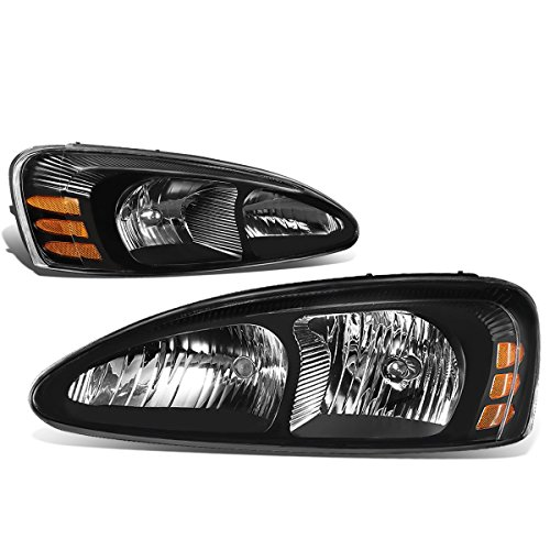 DNA MOTORING Black amber HL-OH-PGPR04-BK-AM Pair of Headlight [For 04-08 Pontiac Grand ()
