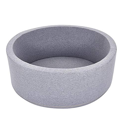 Depruies Indoor Soft Comfortable Kids Play Ball Pool Quality Sponge Ocean Ball Pool Deluxe Baby Round Ball Pit Ideal Gift Play Toy for Children Toddler Infant Boys Girls(Gray)