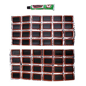 Dovewill 48 Rubber Bike Puncture Patches Bicycle Tire Inner Tube Repair Kits Durable