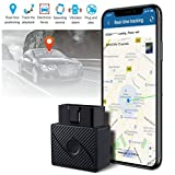 OBDII Car GPS Tracker for Vehicles - Cars Real Time Tracking Device Locator - Geofence Anti-Theft Alarm System Security– Free App No Monthly Fee