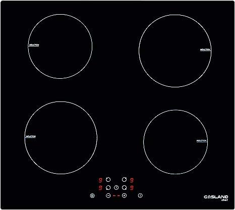 Gasland Chef IH60BF Placa de Inducción Integrada, 60cm, 4 zonas, 6000 W, con Control Táctil